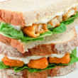 Fish Finger Sandwich detail — Stock Photo