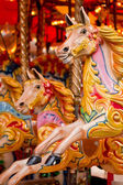 Traditional funfair carousel — Stock Photo