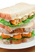 Fish Finger Sandwich detail — Stockfoto