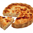 Stock Photo: Savoury pie isolated