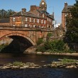 Annan Bridge and Town Hall — Stock Photo