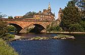 Annan Bridge and Town Hall — Stock Photo