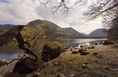 Brotherswater lakeside English Lakes — Stock Photo