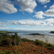 View from the Muckle over the Kippford estuary and across the So — Stock Photo #38122339