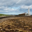 Stock Photo: St marys lighthouse on North East Coast