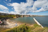 Cullercoats bay north east England — Stock Photo