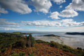 View from the Muckle over the Kippford estuary and across the So — Stock Photo