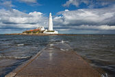 St marys lighthouse on the North East Coast — Stock Photo