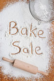 Bake Sale Poster — Stock Photo