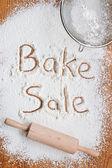 Bake Sale Poster — Stock Photo