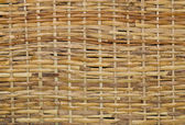 Woven wood wicker background — Stock Photo