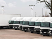 Fleet lorries — Stock Photo