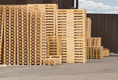 Wooden Pallet stack — Foto Stock
