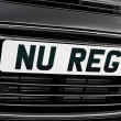 New registration plate — Stock Photo