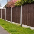Close board fencing panels — Stock Photo #46987887