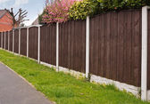 Close board fencing panels — Stock Photo