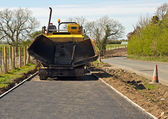 Tarmacadam footpath laying — Stock Photo