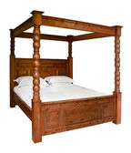 Traditional Four Poster Bed — Stockfoto
