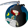 Grim reaper skeleton — Stock Photo