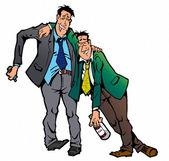 Two drunk men — Stock Photo