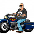 Stock Photo: Cool mriding chopper