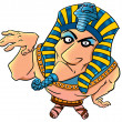 Funny cartoon egyptian pharaoh — Photo