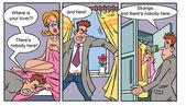 Adult comics strip 1  — Stock Photo