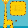 Baby shower card. Birthday card with giraffe.Vector illustration. — Stock Vector