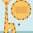 Baby shower card. Birthday card with giraffe.Vector illustration. — Stock Vector #31234879