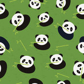 Seamless panda bear pattern. Vector illustration. — Stock Vector