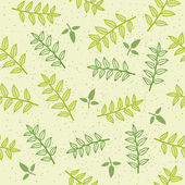 Vector seamless pattern background with leaves — Stock Vector