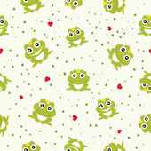 Frog Prince seamless background. Vector illustration. — Stock Vector