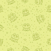 Frog seamless background. Vector illustration. — Stock Vector