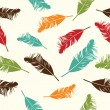 Feather seamless background. Vector illustration. — Stock Vector #31963815