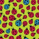 Ladybugs seamless background. Vector illustration. — Stock Vector