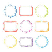 Vector set of hand drawn frames — Stock Vector