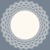 Lace frame. Wedding invitation.Vector illustration — 图库矢量图片