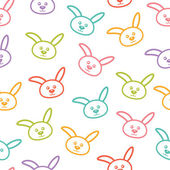 Seamless vector pattern with colorful bunnies. — Vetorial Stock