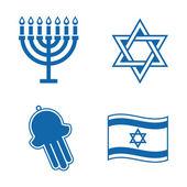 Jüdische ikonen. — Stockvektor