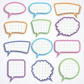 Vektorové sada barevné papírové bubliny — Stock vektor