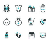 Baby icons. — Stock Vector