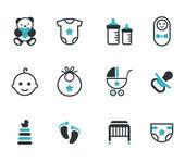 Baby pictogrammen. — Stockvector