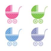 Baby buggy. — Stock Vector