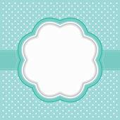 Polka dot frame — Stock Vector
