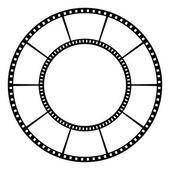 Film tape. — Stock Vector