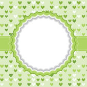 Blank frame with heart background. — Stock Vector