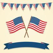 American decorations. — Stock Vector