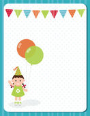 Birthday invitation card. — Stock Vector