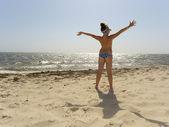 Joy in the sun and sea — Stock Photo