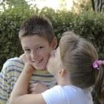 Children kiss — Stock Photo #13617429